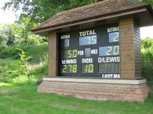 75/0 after 10 overs as Tim reaches 50. The chase is on