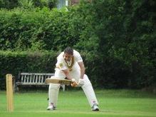 Hard work for Deepak as the ball keeps low