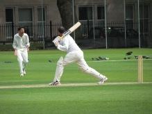 Jai smashes one to the boundary