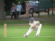 Stef settles in and steers one past gully
