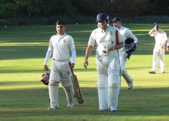 Kamrul and Sid after their unbeaten 109 run partnership