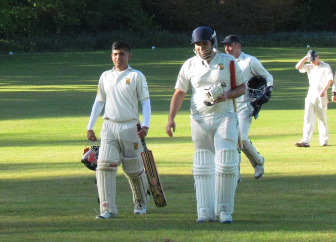 Kamrul and Sid after their unbeaten 109 run partnership