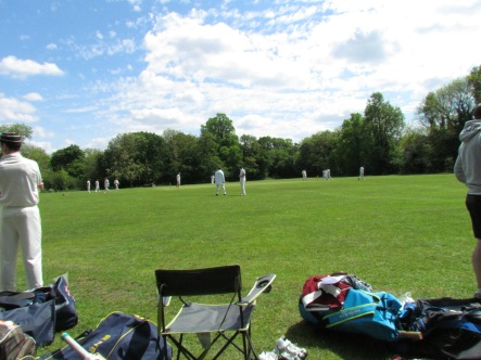 Barnes Common - a sunny day, but a devil in the pitch!