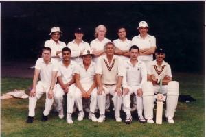 MUNICH 1991 Back: Vinoo Nath, Scott Ide, Fred Kensey, Vivek Rattan, Charles Noakes. Front: Andy Day, Bilu Mehta, Jack Hyams, Michael Blumberg, Tony Brennan, Sunil Amar.
