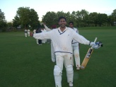 A Tie, as Eddy scampers a bye off the last ball