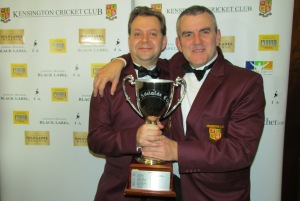 LIFETIME ACHIEVERS - Jon Pickles and Mark Jefferson hold the Adelaide Cup