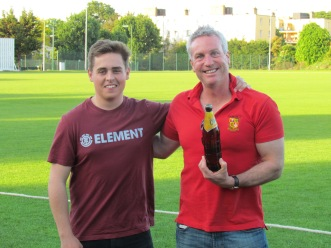 Jamie wins the KCC Man of the Match award