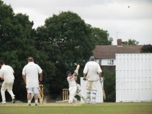 David Price smacks a six. His innings saves the game for the Squires