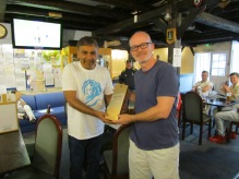 Man of the Match David Price gets the JW from Neeraj
