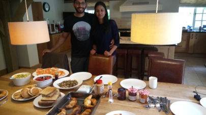 Eddy and Alisha cook breakfast