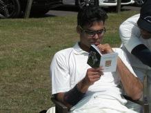 Prahlad Tanwar does his homework...
