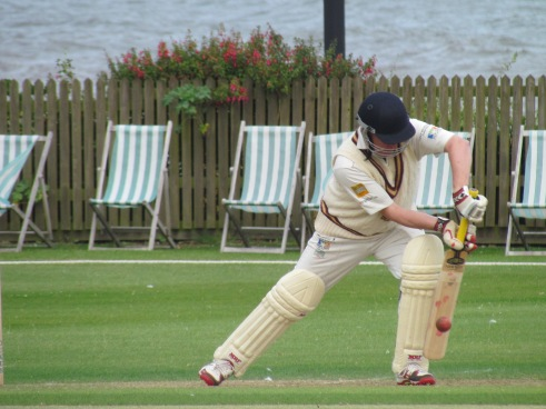 Captain Chris sets up for a long innings - 80 to be exact
