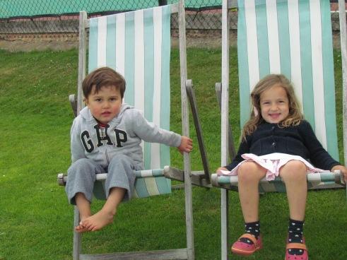 Ken and Zoya enjoying the cricket?