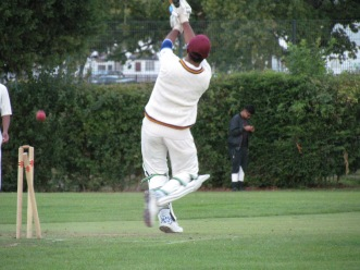 Saikat's innings of 66 in 68 balls comes to an end