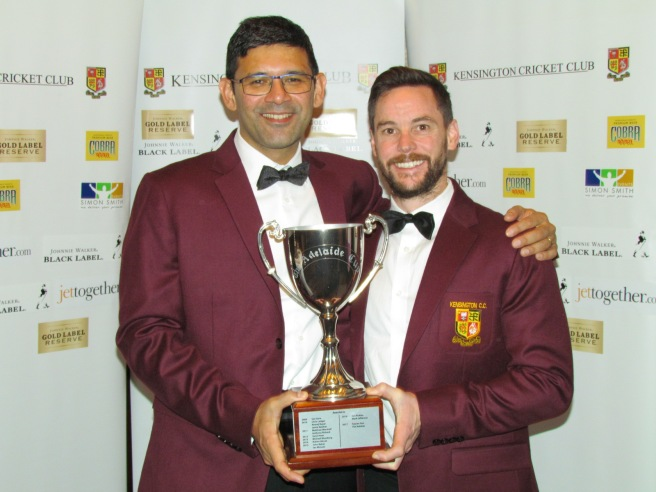 Saurav Sen and Tim Keleher - the latest holders of the Adelaide Cup and wearers of the Maroon Jacket