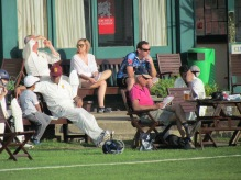 Spectators enthralled (not) watching the game