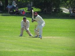 Harsha Gandadi bats on his debut