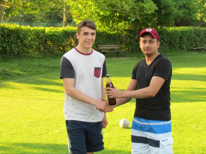 Jake wins the MoM Cobra beer for his 29* and 3/11