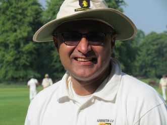 A rare appearance by Unmish Parthasarathi - made rarer with a two ball duck