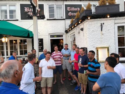 After-match speeches at the Barley Mow