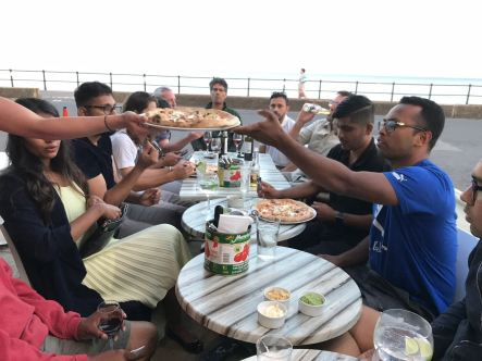 Pizzas at Sidmouth