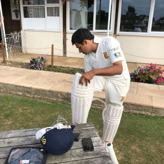 New skipper Nitin Chaturvedi waits for his team to arrive - no bowlers to face!