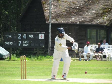 Chetan Malhotra leads the way with a solid 64