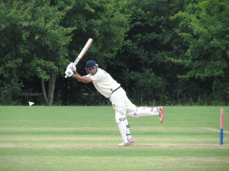 Nitin puts one away in balletic style