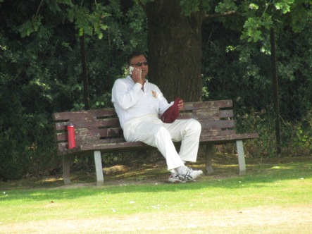 Jai Singh, out early, catches up with less important matters