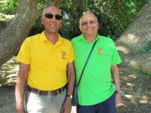 San and Shantanu - old school chums and KCC supporters