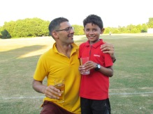 Skipper Saurav with son Mihir