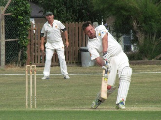Toddy strikes - with the bat