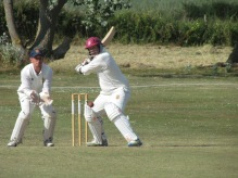 Jamie unbeaten on 30 made in only 14 balls, 21 runs coming in the last over
