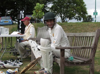 Shahzeb waits to bat (forever)