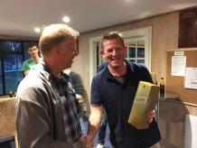 John Staddon wins the JW for his fine 62 for East Horsley