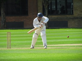 Jai Singh keeps a watchful eye on the ball