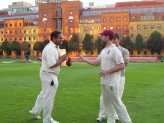 HAC's Razwan picks up the Johnnie Walker for his 4/73