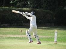Chetan Malhotra square drives for four