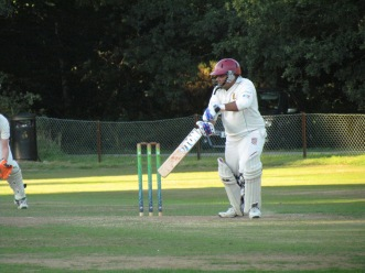 Neeraj carries his bat with 54*