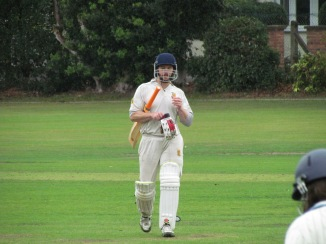 Tim retires on 29 having dented the Vets hopes of a consecutive victory