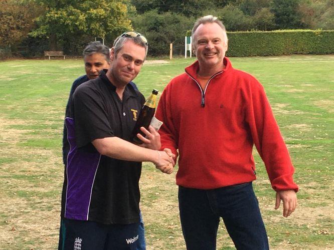 Matt Syddall wins the Cobra for his wicketkeeping efforts