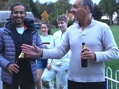 Rohan Ghosh gets the Cobra from skipper Zag
