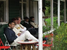 Watching from the pavilion