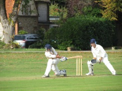Rohan sweeps on his way to an unbeaten fifty and most runs for the season