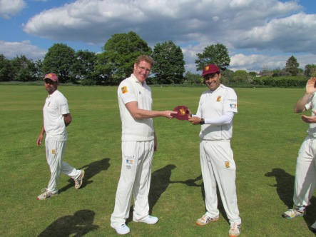New player Bern Toomey receives his KCC cap