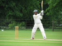 Chetan opens half a shoulder in a 50 ball 16