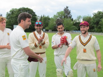 Tim Russell is given his KCC cap