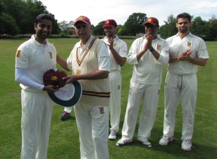 Rajat Mehta is given his cap