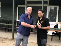 Nitin collects the Cobra Award