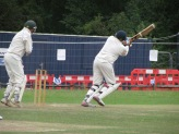 Harsha clips one for six